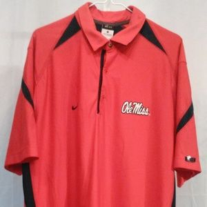 Nike Athletic Ole Miss Polo Style Shirt (L)